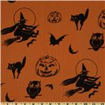 All Hollows Eve Witches Orange