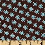 224685 Blue Skies Stick Flowers Brown