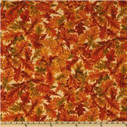 Moda Foliage Oak Leaves Tan
