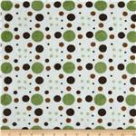 0283632 Minky Cuddle Venus Dots Olive/Brown