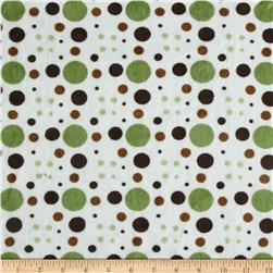 Minky Venus Dots Olive/Brown