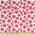 Riley Blake Lovey Dovey Flannel Roses Red