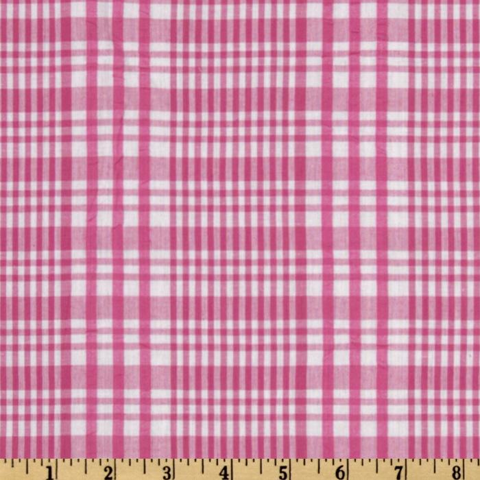 Seersucker Plaid Pink