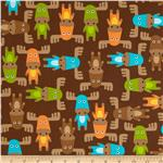 0290069 Woodland Pals Tossed Moose Bermuda