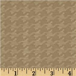 Shadow Ponte De Roma Knit Houndstooth Tan