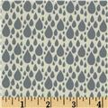 Moda Little Things Organic Raindrop Cream - Rainy Day Grey