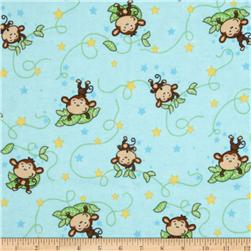 Flannel Tossed Monkeys on a Vine