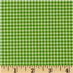FO-826 Small Check Lime Green