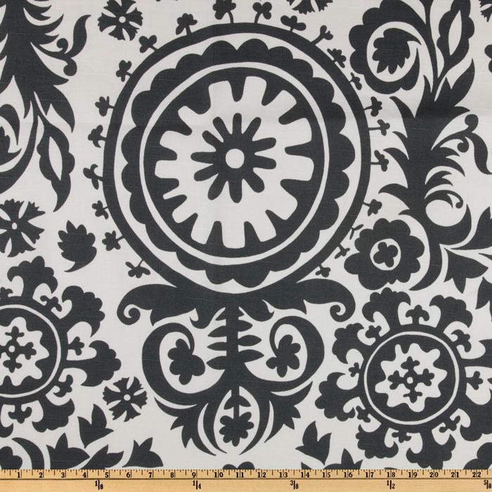 Premier Prints Suzani Slub Charcoal
