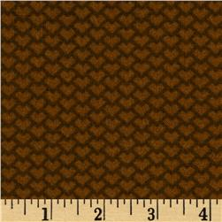 Kid's Corner Tonal Hearts Brown