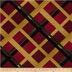 Christmas Spectacular Metallic Plaid Red