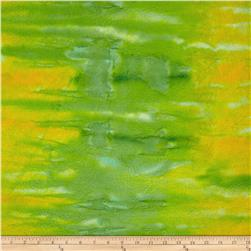 Indian Batik Hand-Dye Texture Lime/Yellow