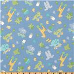 Bitty Baby Flannel Tossed Toys Blue