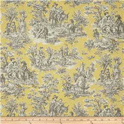 Waverly Rustic Life Toile Lemondrop