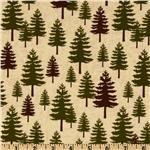 FV-009 Riley Blake Elk Ridge Pine Trees Cream