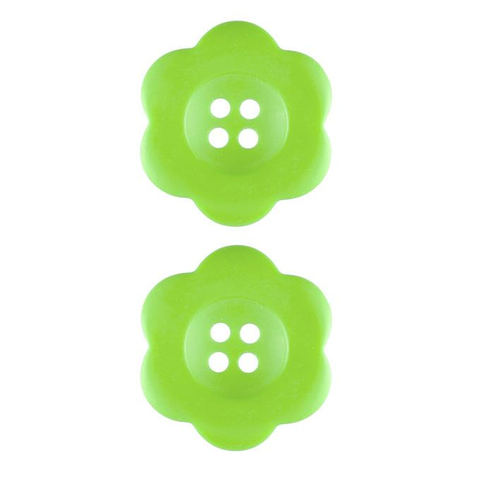 Riley Blake Sew Together 1 1/2'' Flower Matte Button Lime