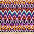 Stretch ITY Jersey Knit Ikat Purple/Pink