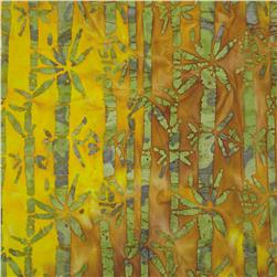Indian Batik Bamboo Lagoon Green/Yellow