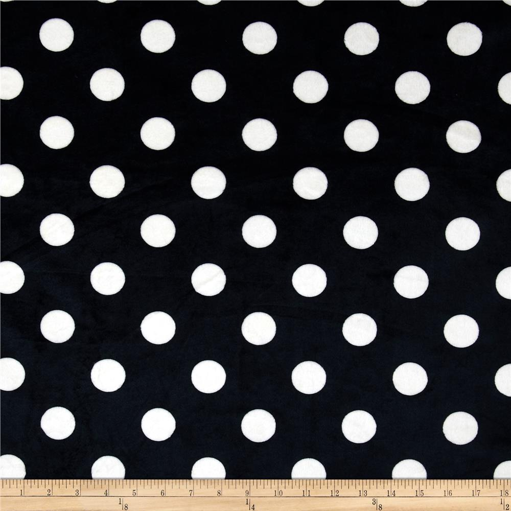 Minky Mid Dots Black/White
