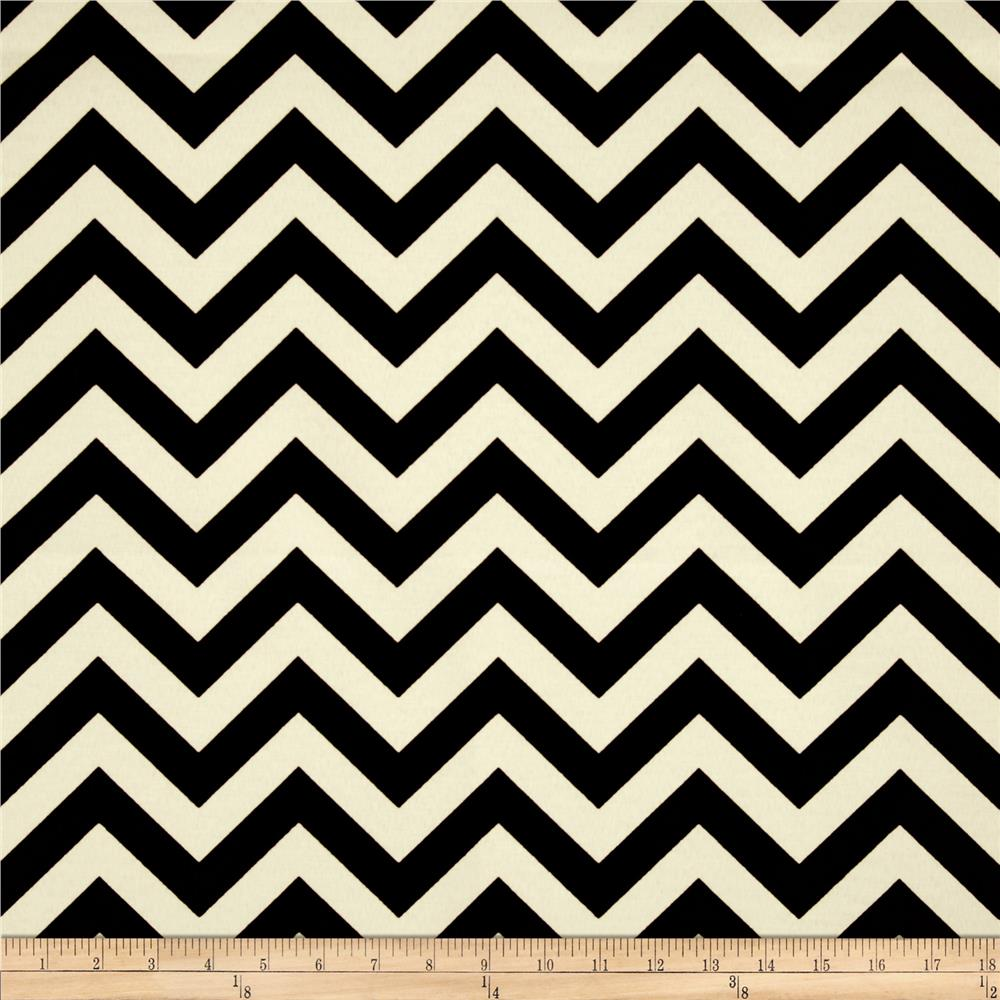 Premier Prints Indoor/Outdoor Zig Zag Ebony