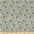 Downton Abbey Lady Sybil Honeycomb Circle Blue