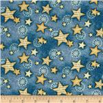 0292406 Star Spangled Bandana Stars Denim Blue