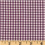 Woven 1/8&#39;&#39; Carolina Gingham Purple