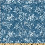 All Around The Town Snowflake Swirl Blue