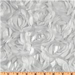 Loveable Satin Ribbon Rosette White