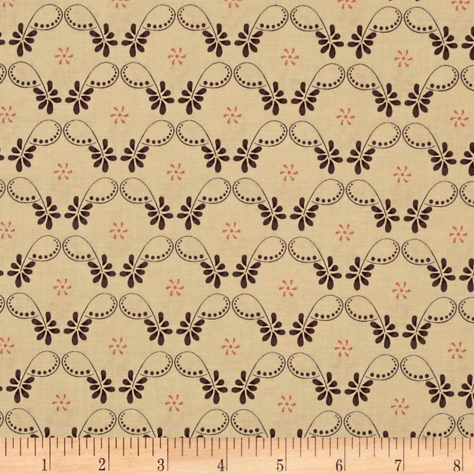 Riley Blake Twigs & Grace Damask Cream