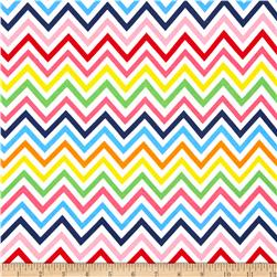 Laguna Stretch Cotton Jersey Knit Zig Zag Rainbow