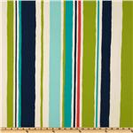 UK-202 Robert Allen Indoor/Outdoor Baja Stripe Turquoise