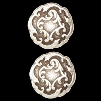 Metal Button 5/8&#39;&#39; Viennese Antique Silver