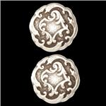 Metal Button 5/8'' Viennese Antique Silver