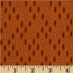 Prairie Home and Companions Oval Dots Rust