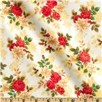 Old World Christmas Large Floral White