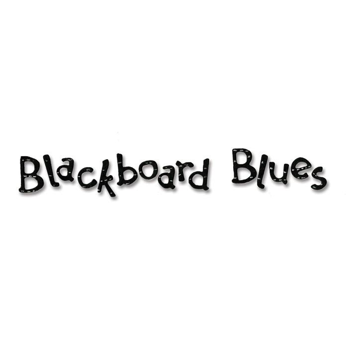 Sizzix Sizzlits Decorative Strip Alphabet Die Blackboard Blues