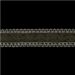 1 3/8'' Velvet Lace Trim Ivory/Grey