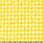 Woven 1/4&#39;&#39; Daisy Gingham Maize