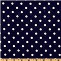 Classic Dots & Stripes Medium Dots Navy