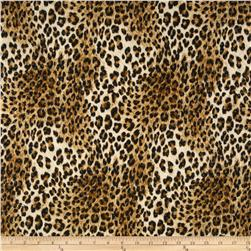 Stretch ITY Jersey Knit Shimmer Animal Cheetah Brown/Black
