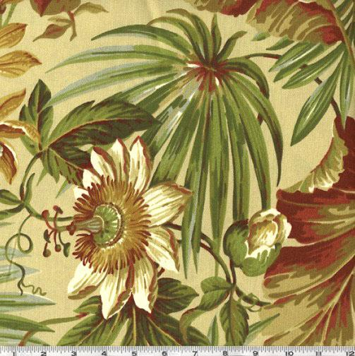 Waverly Sun N Shade St Croix Fabric Cinnabar