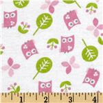 0271470 Alpine Flannel Sweet Owls Pink