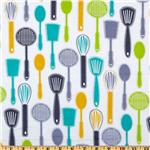 217277 Timeless Treasures Fun Spatulas White
