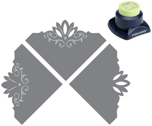 Fiskars Combo Corner Punch Ivy Blossom