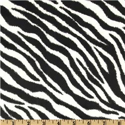 Call Of The Wild Laminated Cotton Zebra Black/White