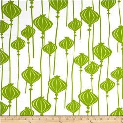Poppy Modern Poppy Bud Stripe Green