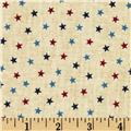 Love & Glory Small Stars Cream/Red/Blue