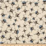 204113 Riley Blake Pirate Matey's Pirate Skulls Cream