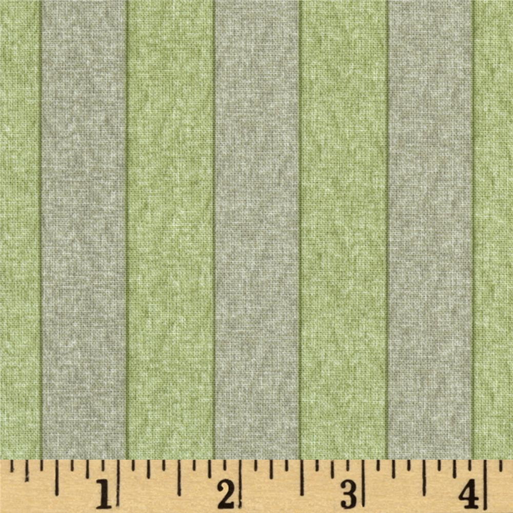 Summer Bouquet Stripe Green